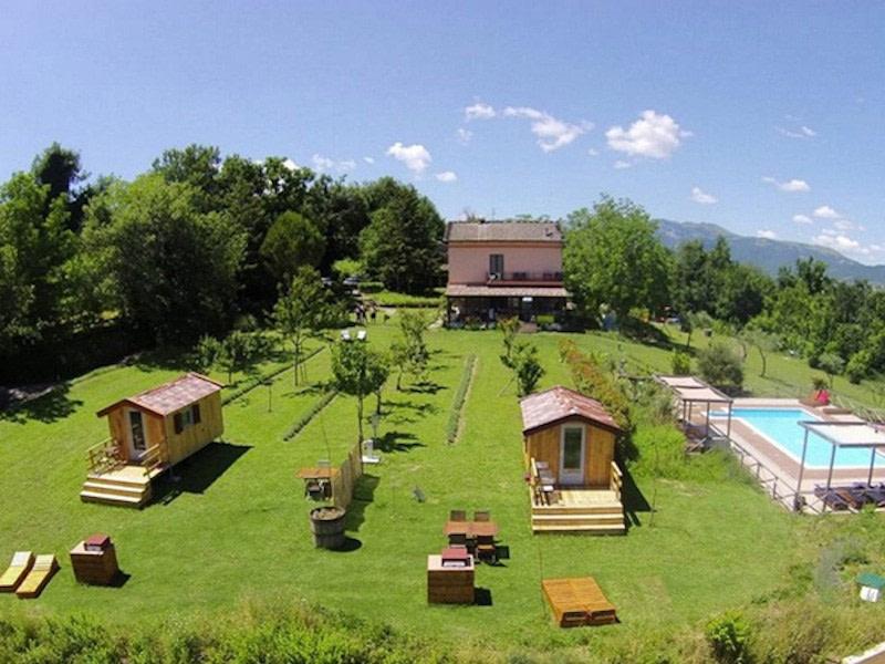 Glamping in Italy atVilla Ti Amo, Camping Le Marche