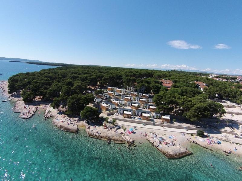 Glamping in Croatia at Camping Kozarica, Pakoštane, Zadar