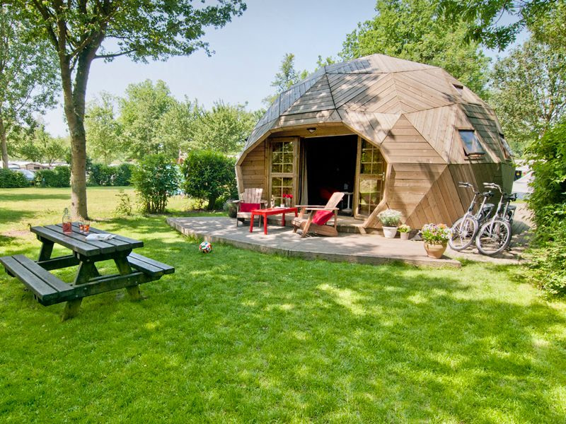 Glamping in The Netherlands at Vakantiepark Delftse Hout, South Holland