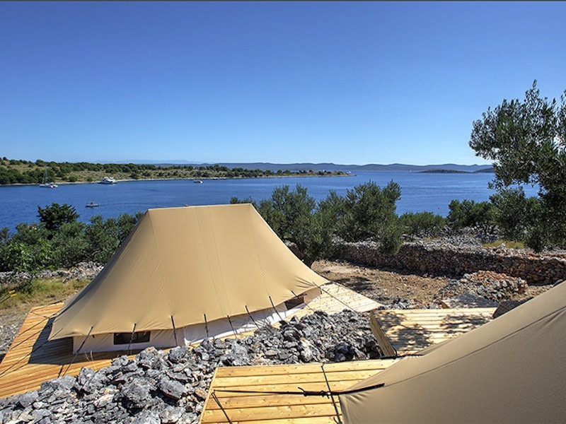 Glamping in Croatia at Glamping Resort Fešta, Žut, Šibenik-Knin County