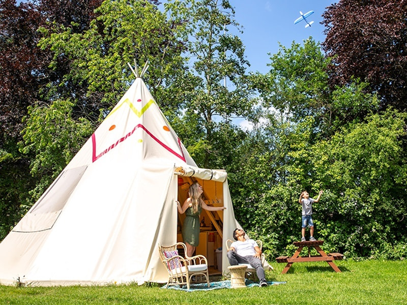 Glamping in The Netherlands at Beloofde Land, Gelderland