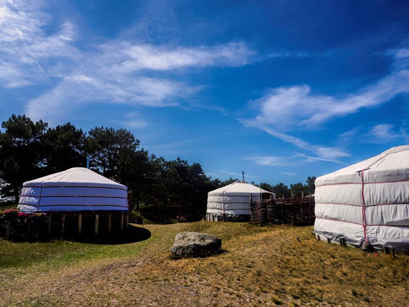 Glamping in The Netherlands atTexel Yurts, North Holland